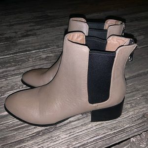 """Steve Madden """"Joopher"""" Taupe Booties"""